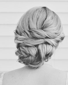 Bridal Twisted Side Bun Updo | Wedding Hairstyle Ideas | Hairstylist & Updo Specialist | Cherry Blossom Belle