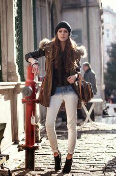 fashion blogger, parka jacket outfit, mango parka jacket, street style 2013, fashion blogger, neon rock katerina kraynova, details, oasap ac...