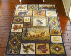 Unique Scenery Grids Maple Leaf Cute Deers Dollhouse Rug for French Country Style, Vintage Country, Tree Tapestry, Aubusson Rugs, Still Life Flowers, Dollhouse Accessories, Dollhouse Furniture, Art Pictures, Rugs On Carpet