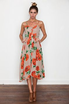 devin strappy dress / stones