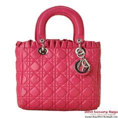 Christian Lady Dior Double-Strap Bag 6325 Peach