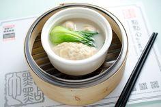 Dim Sum ~ dumplings with vegetable soup