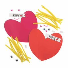 Valentine French Fries Craft Kit | Oriental Trading Valentine Party, Valentines For Kids, Hands On Activities, Toddler Activities, All Craft, Crafts For Kids, Craft Kits, Craft Projects, Valentine's Day Paper Crafts
