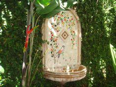 Jardim de inverno com fonte em mosaico