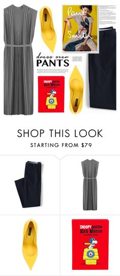 """""""Trend Now: Dress Over Pants"""" by makeupgoddess ❤ liked on Polyvore featuring Lands' End, Taylor, Dolce&Gabbana, Olympia Le-Tan, Paul Smith and KAROLINA"""