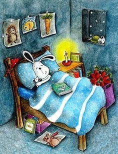 Cute illustrations - Pinzellades al món: Dolços somnis / Dulces sueños / Sweet dreams Snoopy Cartoon, Peanuts Cartoon, Peanuts Snoopy, Snoopy Pictures, Cute Pictures, Woodstock Snoopy, Charlie Brown Y Snoopy, 7 Arts, Snoopy Quotes