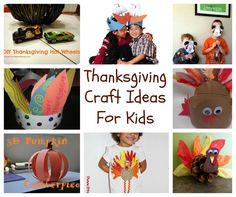 Thanksgiving Kids Craft Round Up