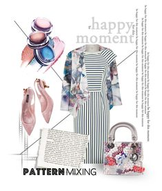 """patternmixing"" by assamite-mit ❤ liked on Polyvore featuring Uttam Boutique, Oasis, Dolce&Gabbana, Christian Dior, Spring, dress, patternmixing and assamite"