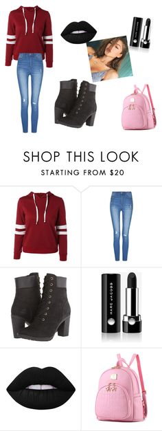 """""""BEAUTY Baby zandaya"""" by klrodgers ❤ liked on Polyvore featuring beauty, Timberland, Marc Jacobs and Lime Crime"""