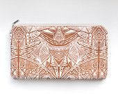 Tribal Pattern Printed  Leather Pouch No. ZPL-2003