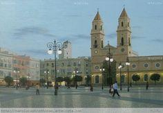 plaza de san antonio - anochecer,cadiz