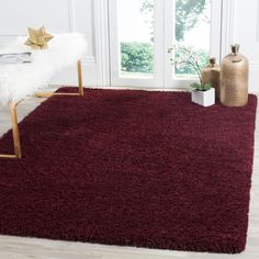 Safavieh Laguna Shag Maroon Teppich – x – shag carpet Burgundy Rugs, Burgundy Bedroom, Safavieh, Rugs, Bedroom Carpet, Burgundy Living Room, Area Rugs, Furnishings, Rugs In Living Room