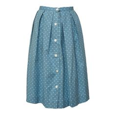 SOLD Blue and white polkadot 1950s skirt Love Miss Daisy ($60) ❤ liked on Polyvore featuring skirts, bottoms, jupes, daisy print skirt, blue and white skirt, polka dot skirt, dot skirt and blue and white polka dot skirt