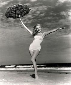 Marilyn Monroe at Tobey Beach by Andre de Dienes, 1949