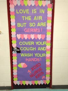 435 best health bulletin boards images in 2019 Health Bulletin Boards, Nurse Bulletin Board, Office Bulletin Boards, Valentine Bulletin Boards, Nurse Office Decor, School Nurse Office, Nurse Decor, School Nursing, Nursing Board