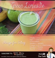 Green Limeade!  :) A little juice recipe for ya'll! Thanks for helping us reach 300,000 soon. Share this to help us hit the goal.