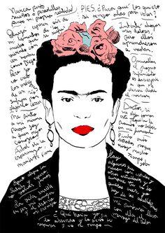 Frida Kahlo Quotes. (Digital illustration)