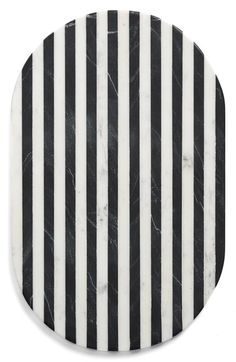 Thirtstystone Black & White Oval Marble Serving Board