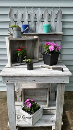 Potting Bench From Reclaimed Fencing