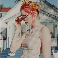 Sun dresses & flower crowns only on #rookieroadtrip. Photos by Petra Collins! #urbanoutfitters