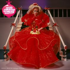 Holiday Barbie 1993 #holidaybarbie