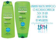 Garnier Fructis, shampoo o acondicionador a $0.50 en Walgreens