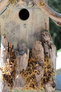 Rustic Birdhouses  Driftwood Accented by BirdhousesByMichele, $60.00