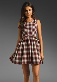 UNIF Kickflip Dress in Plaid at Revolve Clothing - Free Shipping!