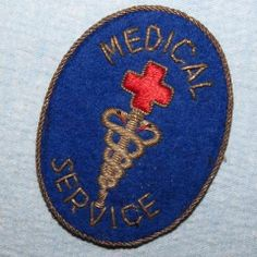 WW2 US Army ETO Medical Section German Hand Made Bullion Insignia