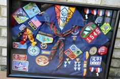 Cub scout shadow box