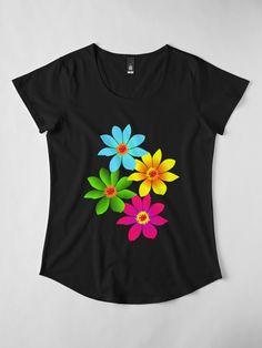 Fabric Paint Shirt, Paint Shirts, T Shirt Painting, Fabric Paint Designs, Fabric Design, Fabric Colour Painting, Flower Artwork, Painted Clothes, Purple Fashion