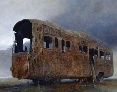 """Zdzisław Beksiński """"Vń""""-2003, 73 x 92 cm"""