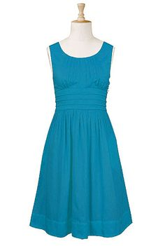 Pleat waist poplin dress. Now that I've found this site, I'm totally screwed. Reasonable prices, adorable dresses.