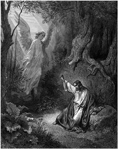 Greetings Card Gustave Dore The Bible The Agony In The Garden