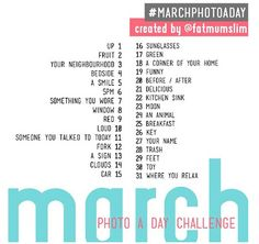 Photo a day - March. I so want to do this!