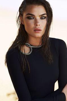 little black party dress: bambi northwood-blyth by simon upton for harper's bazaar australia december 2014