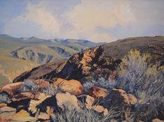 Ted Hoefsloot - Top of Rooiberg-Pass (600 x 450) (SOLD) Landscape Art, Landscape Paintings, Landscapes, Africa Painting, South African Artists, My Land, Art Pictures, Ted, Art Gallery