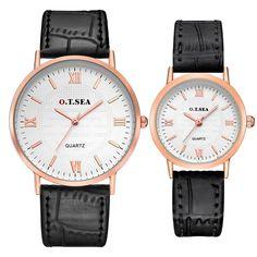 2PC Luxury Watch Men's Lady Strapuple Quartz Wrist Watches