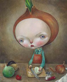 Pinzellades al món: El plor de la ceba / El llanto de la cebolla / The weeping of the onion