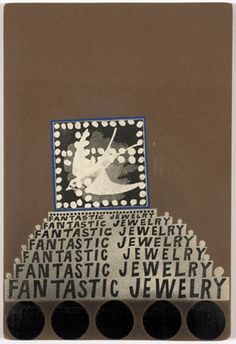 Untitled (Moticos with Fantastic Jewelry) (1954-60), Ray Johnson