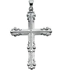 Plat 950 Platinum Large Fancy Cross Pendant Reeve and Knight. $1110.00. This jewelry is symbolic in nature and can be the perfect gift for any and all occasions. Completely redesigned and revamped for the year 2012. This item features a high polish finish for Excellent sparkle and pop. Manufactured using up-to-date manufacturing techniques ensuring the highest quality and value. Promptly Packaged with Free Shipping and Free Gift Box... Perfect for Gift Giving
