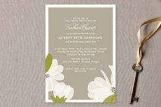 """""""Southern Magnolia"""" - Formal, Hand Drawn Bridal Shower Invitations in Taupe by toast & laurel. Blush Bridal Showers, Unique Bridal Shower, Bridal Shower Gifts, Bridal Shower Invitations, Invites, Wedding Showers, Invitation Ideas, Wedding Stationery, Southern Wedding Flowers"""