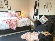 Bedroom Cabinets: A serious Kmart lover! This master bedroom is a little oasis Home decor, Room decor, Kmart home Dream Bedroom, Home Bedroom, Bedroom Decor, Bedroom Ideas, Master Bedroom, Decor Room, Living Room Decor, Bedrooms, Bedroom Dressers