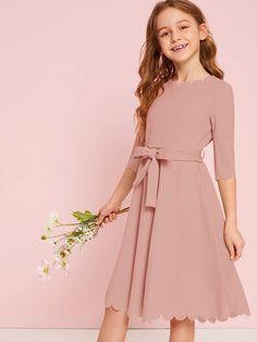 Girls Dresses Online, Dresses Kids Girl, Kids Outfits Girls, Cute Dresses, Girl Outfits, Girls Fashion Clothes, Tween Fashion, Teen Fashion Outfits, Fashion Dresses