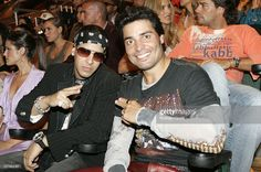 Daddy Yankee and Chayanne during 2005 Premios Juventud Awards - Show at University of Miami Convocation Center in Miami, Florida, United States.