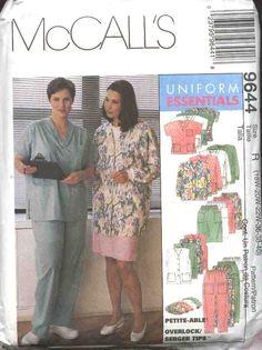 McCall's Sewing Pattern 9644 Womans Plus Size 26W-30W Scrub Medical Nurse Nursing Uniforms