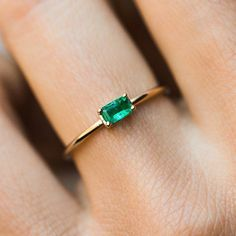 local eclectic | Emerald Octagon Ring #rings