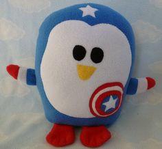 Plush Captain Penguin Pillow. Shut. Up.