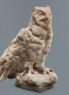 Statue of a horned owl, Roman, 1st century A.D.