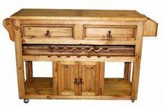 Kitchen Wine Cart   Rustic Furniture   Western Furniture